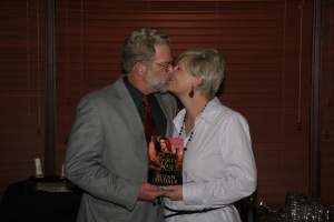 My dear husband and I...yes, he IS a great kisser!